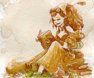 sepia, steampunk, and women image