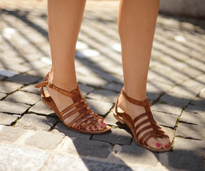 sandals, girl, and shoes image