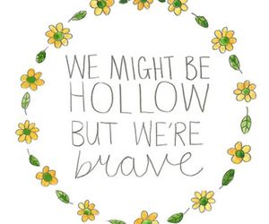 quote, flowers, and overlay image