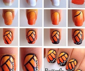 nails, butterfly, and tutorial image