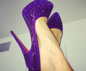 fashion, shoes, and purple image