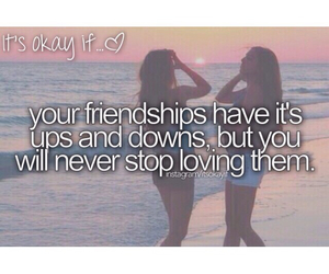 friendship, quotes, and it's ok image