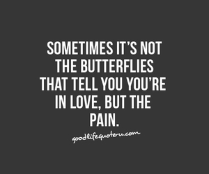 love, butterfly, and pain image