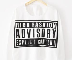fashion, sweater, and advisory image