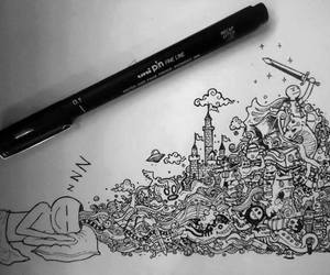 draw, imagination, and dreams image