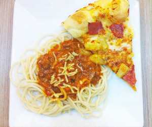 carbs, pizza, and yummy image