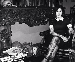 black and white and kat von d image