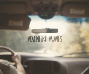 adventure, car, and quote image