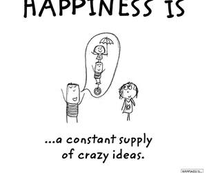 crazy, happiness, and quote image