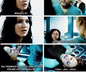pizza, funny, and katniss image
