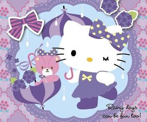 hello kitty, kitty, and purple image