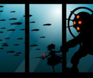 big daddy, bioshock, and little sister image
