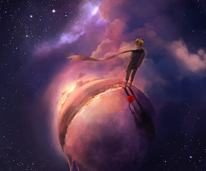 art, little prince, and rose image