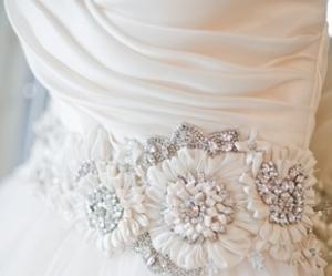 dress, wedding, and diamonds image