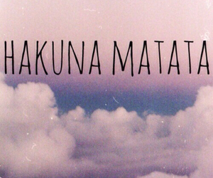 hakuna matata, sky, and clouds image