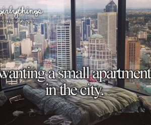 city, apartment, and new york image