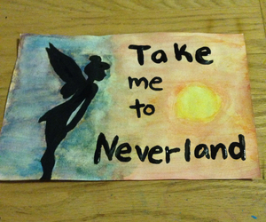 neverland, disney, and paint image