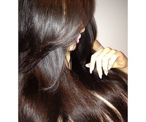 hair, nails, and brunette image
