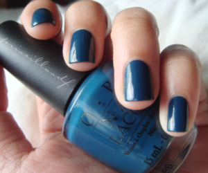 nail designs and simple blue nails image