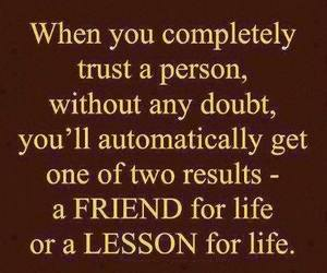 friends, trust, and lesson image
