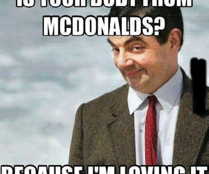 McDonalds, funny, and mr bean image