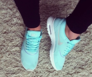 air max, blue, and baby blue image