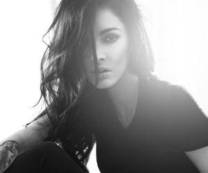 megan fox, black and white, and sexy image