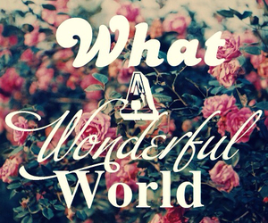 wonderful, world, and flowers image