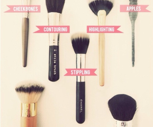 Brushes, makeup, and girls image