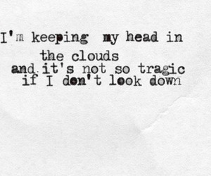 quotes, clouds, and head image