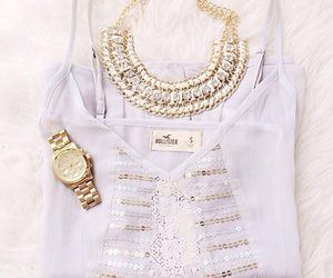 hollister, fashion, and gold image