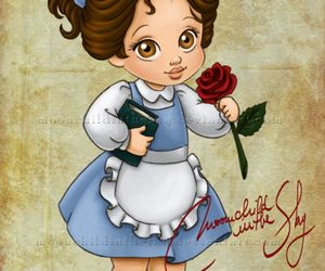 disney, belle, and princess image