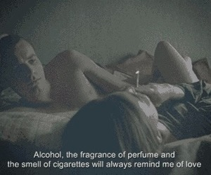 love, alcohol, and cigarette image