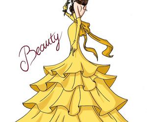 disney, belle, and princess image