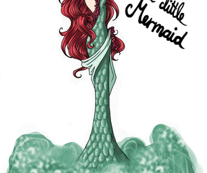 disney, ariel, and art image