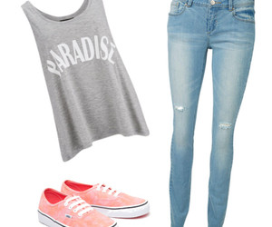girl, grey, and Polyvore image