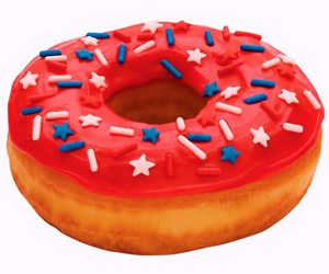 donut, stars, and sweet image