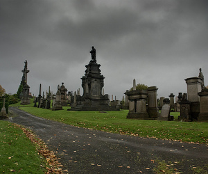 cemetery, glasgow, and gravestone image