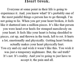 heart break, pain, and love image