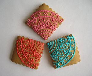 sweet treat, decoration., and colored icing image