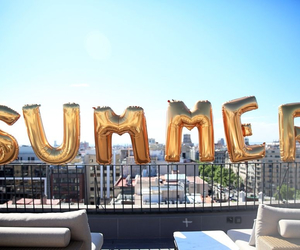summer, balloons, and gold image