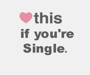 single and heart image