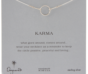 karma, necklace, and quote image