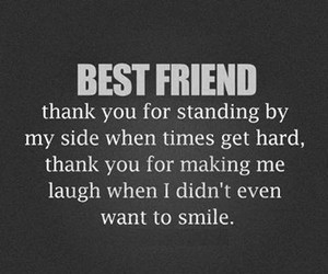 best friends, thank you, and friends image