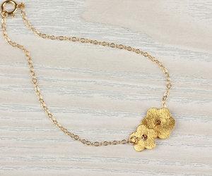 bridesmaid gift, daisy bracelet, and persephone image