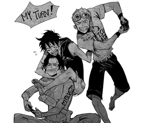 ace, one piece, and luffy image