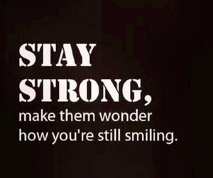 strong, quote, and smile image