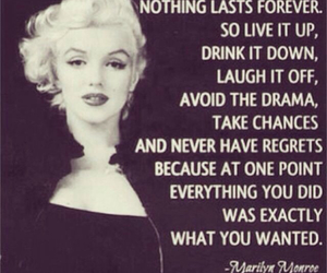 forever, life, and Marilyn Monroe image