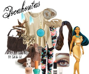 bohemian, outfit, and pocahontas image