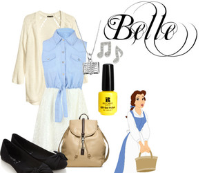 beauty and the beast, belle, and fashion image